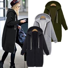 c3b7d0d2f254d 2018 Fashion Casual Long Zipper Hooded Jacket Hoodies Sweatshirt Vintage  Plus Size Outwear Hoody Autumn Winter Coat Women 5XL