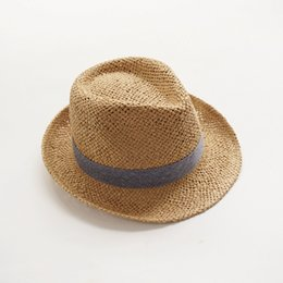 BaBy Boy straw summer hat online shopping - Spring summer and autumn men and women handmade straw hats baby hats children s sun hats