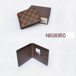 coolest mens wallets NZ - New handbags Vintage PU Mens Wallets Fine Bifold Brown Black PU Leather Credit Card Cool fold Wallet for men Free Delivery