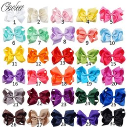 $enCountryForm.capitalKeyWord Australia - 6 Inch Solid Hair Bow With Clip For Girl,boutique Ribbon Hair Bow For Kids Classic Handmade Hair Accessories 30pcs lot J190507