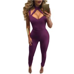 $enCountryForm.capitalKeyWord Australia - Halter Jumpsuit Romper Plus Size Backless Body Suits for Women Fitness Women Overalls
