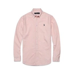 $enCountryForm.capitalKeyWord Australia - New spring and autumn men's high quality business fashion classic T-shirt men's Oxford fabric embroidery stripe long sleeve polo s