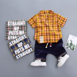 $enCountryForm.capitalKeyWord Australia - plaid boys fashion sexy shirt handsome kids trensummer clothes children boutique clothing newborn baby boys wear toddler kids infant clothes