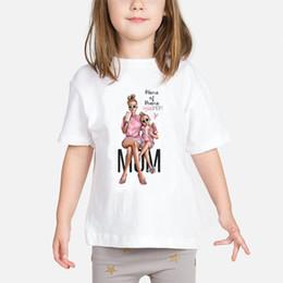 $enCountryForm.capitalKeyWord NZ - Super 2019 Baby Girls T Shirt Mother And Baby Love Life Kawaii Printed T-shirts Love Kids White Clothing Child Tops