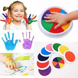 Diy Boys Toys UK - Fashion New Cartoon Washable DIY Ink Pad Kids Pigment Inks Toy Game Fashion New Kids Pigment Inks