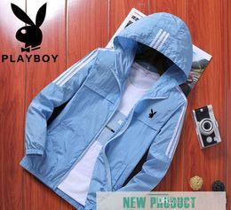 Uv protection clothing online shopping - Harajuku Style Playboy Jacket Men s Summer Ultra thin Breathable Fashion Sunscreen Clothes Korean UV Protection Summer Men s Coat