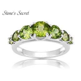 $enCountryForm.capitalKeyWord Australia - 2.12ctw Round Manchurian Peridot 925 Sterling Silver Ring Genuine Natural Stone Ring Birthstone CEH160 S18101002
