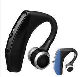 bluetooth headset control Canada - V12 Business Bluetooth Headset Wireless Handsfree Office Bluetooth Earphones Headphones with Mic Voice Control Noise Cancelling