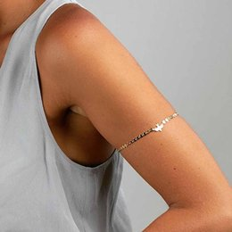 upper arm cuffs NZ - Jewdy Summer Beach Charming Lady Bird Dove Bead Tassel Chain Upper Arm Cuff Armlet Armband Bangle Bracelet Jewelry Hot