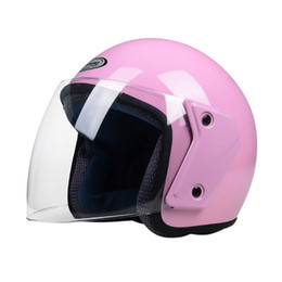 Woman Half Face Helmet Australia - Women Motorcycle Half Helmet open face helmet Bike Bicycle Sweet Bear Motorbike