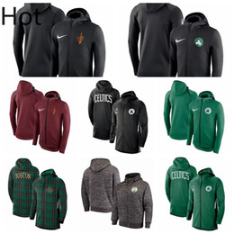 Wholesale full zip hoodies online – oversize Top Boston Celtics Men Cleveland Cavaliers Men Showtime Jersey BOS Therma Flex Performance CLE Full Zip Basketball Hoodie