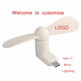 $enCountryForm.capitalKeyWord Australia - Accept Custom Type-c Cute Flexible Mini Cool Hand Fans for iPhone Android Micor Type-C Interface Mobile Phone Fan