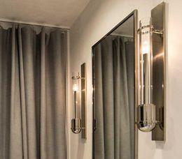 $enCountryForm.capitalKeyWord Australia - Regron Industrial Vintage Led Glass Tube Light Sconce Gold Wall Fixture Arandela for Dressing room Corridor Hotel Cafe Art studio Loft