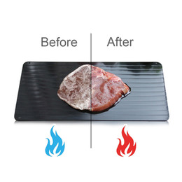 Wholesale DHL Defrosting Tray for Frozen Food Thawing Plate Defrost Meat Frozen Food Quickly without Electricity Microwave Hot Water or Any Other Tool