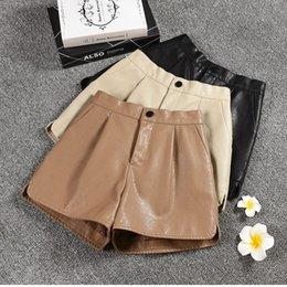 $enCountryForm.capitalKeyWord NZ - Leather shorts female winter 2019 new large size Korean loose casual shorts Waist Wide Leg Black high waist