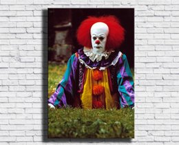 Clown Paintings Australia - Pennywise, Clown,1 Pieces Canvas Prints Wall Art Oil Painting Home Decor (Unframed Framed) 24X36.