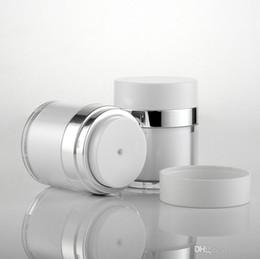 Acrylic Eye Cream Jar Australia - empty white cream jar 15g 30g 50g pearl white Acrylic vacuum cream jar, plastic empty airless Cosmetic Jar Plastic cream jar