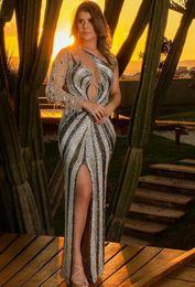 $enCountryForm.capitalKeyWord NZ - Evening dress Mermaid Jewel Long Sleeve Tulle Tassel Split Front Side Classic Customizable in any size Modern 1 Customizable