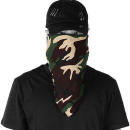 Camouflage Cotton Australia - Camouflage Bandanas Cotton Headwear Women Scarves Headband Men Camping Mask Gaiters Cuello Hiking Scarves