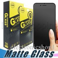 Glass Film Screen Protector Anti Shatter Australia - Matte Tempered Glass Screen Protector 9H Anti Fingerprint Proof Anti-shatter Film For iPhone X Xr Xs Max 8 7 6S Plus