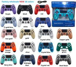 station wireless controllers NZ - SHOCK 4 Gamepad Wireless Bluetooth Controller for PS4 Vibration Joystick Gamepad PS4 Controller Play Station With Retail package