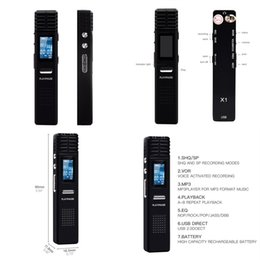 Long Time Recorder Australia - Professional 8GB Digital Audio Voice MP3 Recorder Long Time Recording Dictaphone Mini MP3 Player Gravador De Voz