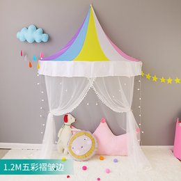 $enCountryForm.capitalKeyWord NZ - 120CM Child gauze reading corner and a half canopy tent crib play House children's corner bed nets mantle hanging toy