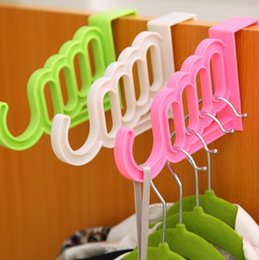 displays for clothes Australia - CellDeal Multifunctional Plastic Door Back Type Hook Hanger Towel Display Hanger Belt Scarf Storage Holder for Bedroom