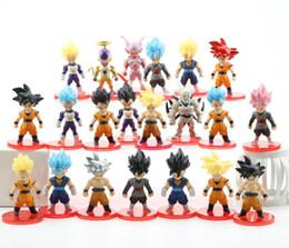 Shenron Figure Australia - Dragon Ball Z Super Saiyan Son Goku Gohan Vegeta Vegetto Syn Shenron Freeza Janemba Mini PVC Figures Toys 21pcs set