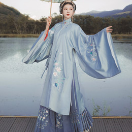 Wholesale han dynasty for sale - Group buy New Traditional Chinese Dance Costumes Hanfu Women Chinese Dress Ancient Han Dynasty Hanfu Princess Dress Festival Outfit SL3370