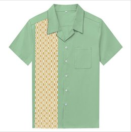 6e98c7c2b6 New Mens Fashion Shirts Flamingo Diamond Print Man Causal Shirts Rockabilly  Clothing Hip Hop Plus Size Clothing
