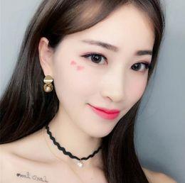 Golden Ball Jewelry Australia - Fashion Ball Geometric Earrings With Golden color Dangle Earring Popular Jewelry for Girls Women e80