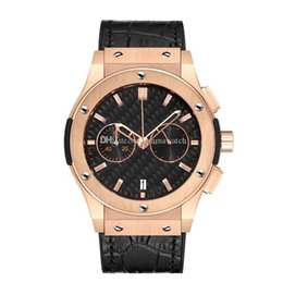 Wholesale Luxury Men s Automatic Watches Stainless Steel Leather Belt Top Large Size Mechanical Motion Watch Large Needle Timing and Running Seconds