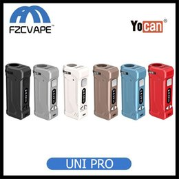 display variable UK - Authentic Yocan Uni Pro Box Mod Variable Voltage Battery with OLED Display 650mAh Preheat VV Vape Box 100% Original