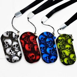 Skin necklace online shopping - Zero Pod Skull head Silicone Case Skin Cover Rubber Sleeve Protective Covers with Portable Necklace Rope Lanyard DHL