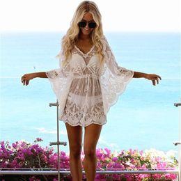 $enCountryForm.capitalKeyWord Australia - Sexy Women Pareo Cover Up Beach Dress Floral Lace Robe De Plage Mesh Girls Tunic Bikini Bath Suit Female Saida Praia Swimwear