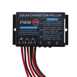 24v solar controller Australia - 10A 20A 12V 24V IP68 Waterproof PWM Solar Charge Controller with Cable for Caravan Boat RV Fencing Off Grid Solar System(24hrs working mode)