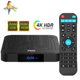 Media Player Australia - Hot M9S W1 Amlogic S905W Android TV Box 2GB 16GB Quad Core 2.4G WiFi 3D 4K VP9 HDR10 IPTV Android 7.1 Smart media player Set Top Box
