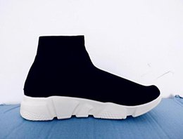 China Unisex Casual Shoes Flat Fashion Socks Boots Red Grey Triple Black White Stretch Mesh High Top Sneaker Speed Trainer Runner cheap pointed flat boots suppliers