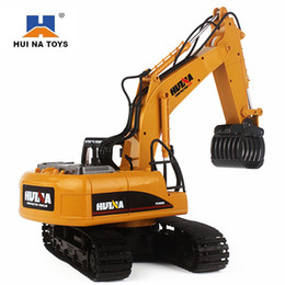 $enCountryForm.capitalKeyWord Australia - 2.4g HuiNa 570 2.4G Excavator 16 Channels Metal Charging RC Car Model Toys Grabbing Machine Auto Demonstration