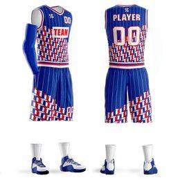 Conjunto de camisetas de baloncesto personalizadas de Diy Kits de entrenamiento para hombres, hombres, camisetas de baloncesto, pantalones cortos, ropa deportiva, equipo universitario de alta calidad, diseño libre en venta