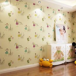 $enCountryForm.capitalKeyWord Australia - Modern Cartoon Wallpapers Kids Girls Bedroom Wallpaper Roll For Kids Room Non Woven Children Wall Paper Baby Room Wall Covering