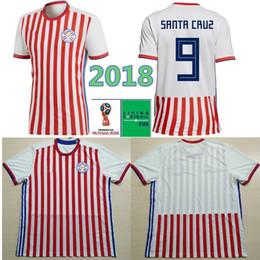 Discount uniform world - 2018 World Cup Paraguay Soccer Jersey 4 GAMARRA 9 SANTA CRUZ Gonzalez Miguel Almiron DUAETE VELAZQUEZ Custom Home Footba