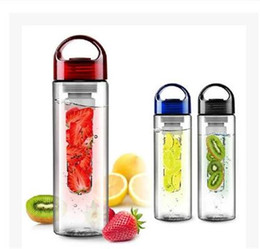 Fruit inFusion bottles online shopping - Fruit Juice Infusion Infuser Water Bottles Mugs Cup Sport Outdoor Health Flip Lid Gifts600 Ml dc150