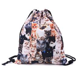 Thikin Women Shopping Bags Teenager Drawstring Backpack Cute Bunch Pocket Bags Beach Bag Girls Boys Carry On Bags 41*34cm Men's Bags