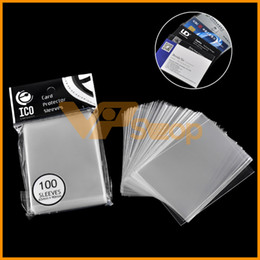 card protector sleeves wholesale Australia - 100pcs pack 65*90mm ICO Card Protector Sleeves Magic Killers of Three Kingdom Football Star Card Unsealed Game Sleeves Card Holder Case