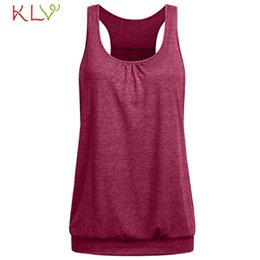 wholesale loose crop tops Canada - Summer Crop Tank Top Women Casual Loose Solid Harajuku Camis Fitness Basic Shirt Underwear Mujer Chic Streetwear Plus Size 19M18