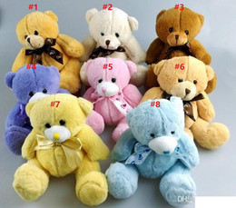 Discount small christmas teddy bears Cute Soft Teddy Bears Plush Toys 15cm Small Plush Baby Teddy Bears Stuffed Dolls Christmas Plush Gifts Wholesale
