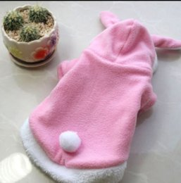 Cute Outfits For Spring Australia - Pet Cat Clothes Costume Clothes For Pet Hoodies Cute Rabbit Cat Clothing Puppy Fleece Warm Pet Cat Jacket Outfit