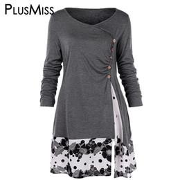 1ee9f212507 PlusMiss Plus Size 5XL Draped Floral Printed Long Tunic T Shirts Women  Autumn 2019 Long Sleeve Tops Tees Big Size XXXXL XXXL XXL